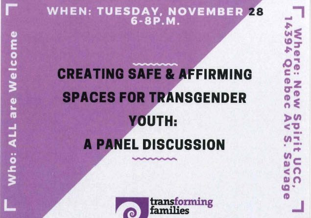 Creating Safe Spaces for Transgender Youth